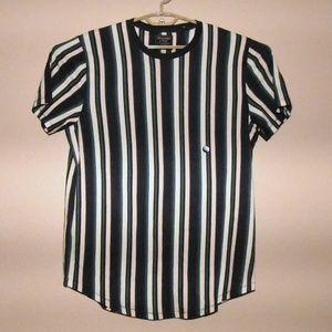 Abercrombie & Fitch Green Navy Stripe XL